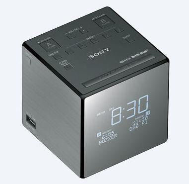 sony xdr c1dbp dab dab fm clock radio grey. Black Bedroom Furniture Sets. Home Design Ideas