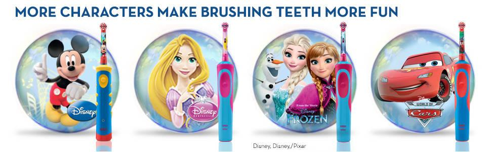 Oral B Stages Power Kids Electric Toothbrush Featuring Frozen Characters, Gift Pack Including Toothpaste