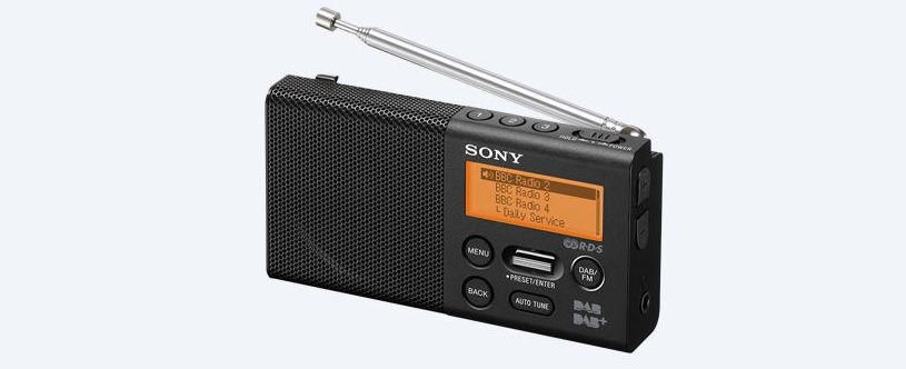 sony xdr p1dbp pocket dab dab radio black tv. Black Bedroom Furniture Sets. Home Design Ideas