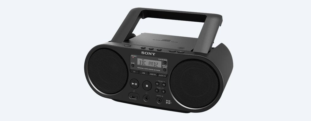 sony zs ps55b cd boombox with dab and fm radio black. Black Bedroom Furniture Sets. Home Design Ideas