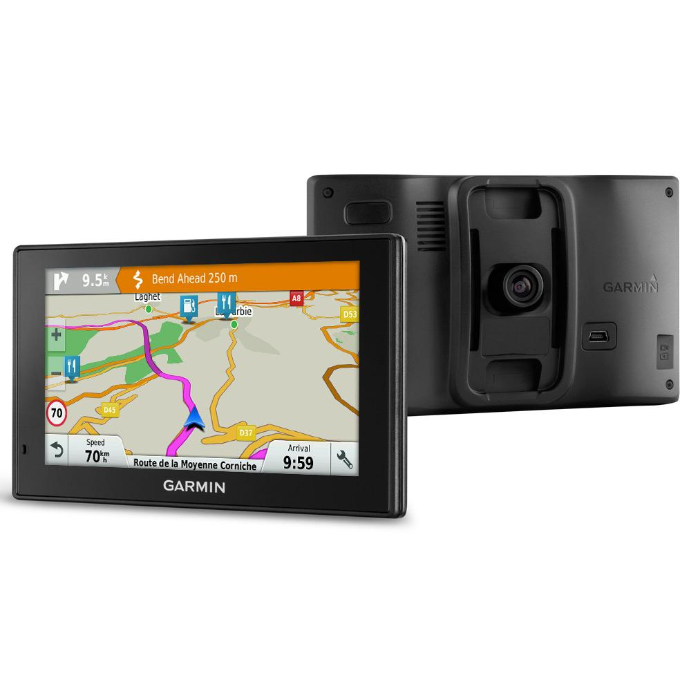 Refurbished - Black Built-in Dash Cam, Lifetime Map Updates and Digital Traffic for UK, Ireland and Full Europe, Bluetooth Garmin DriveAssist 50LMT-D 5 inch Satellite Navigation System