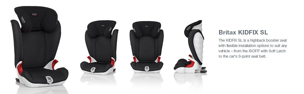 Britax, KIDFIX SL, car seats, highback booster, ISOFIX