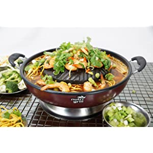 Nutrigrill Thai Style Table Top Electric BBQ Grill Hot Pot