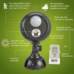 mr beams, mb371, wireless spotlight with remote control, wireless led spotlight