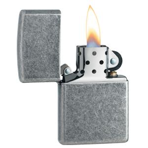 Antique Silver Plate Zippo Lighter 121FB