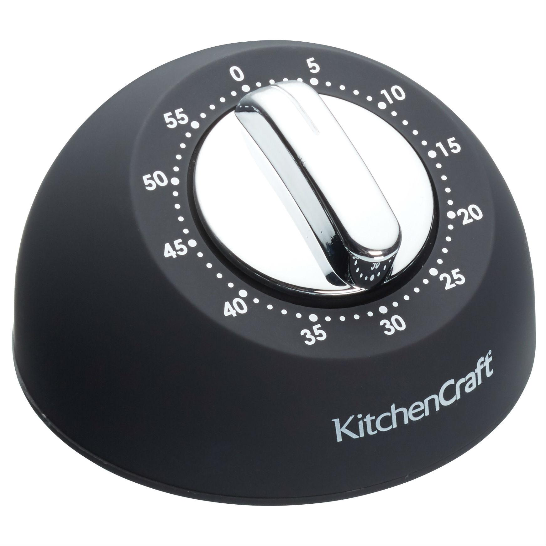 One Hour Kitchen Projects: KitchenCraft Soft-Touch Mechanical 1-Hour Kitchen Timer