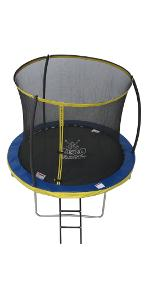 8ft Trampoline with safety enclosure netting Zero Gravity Ultima 4