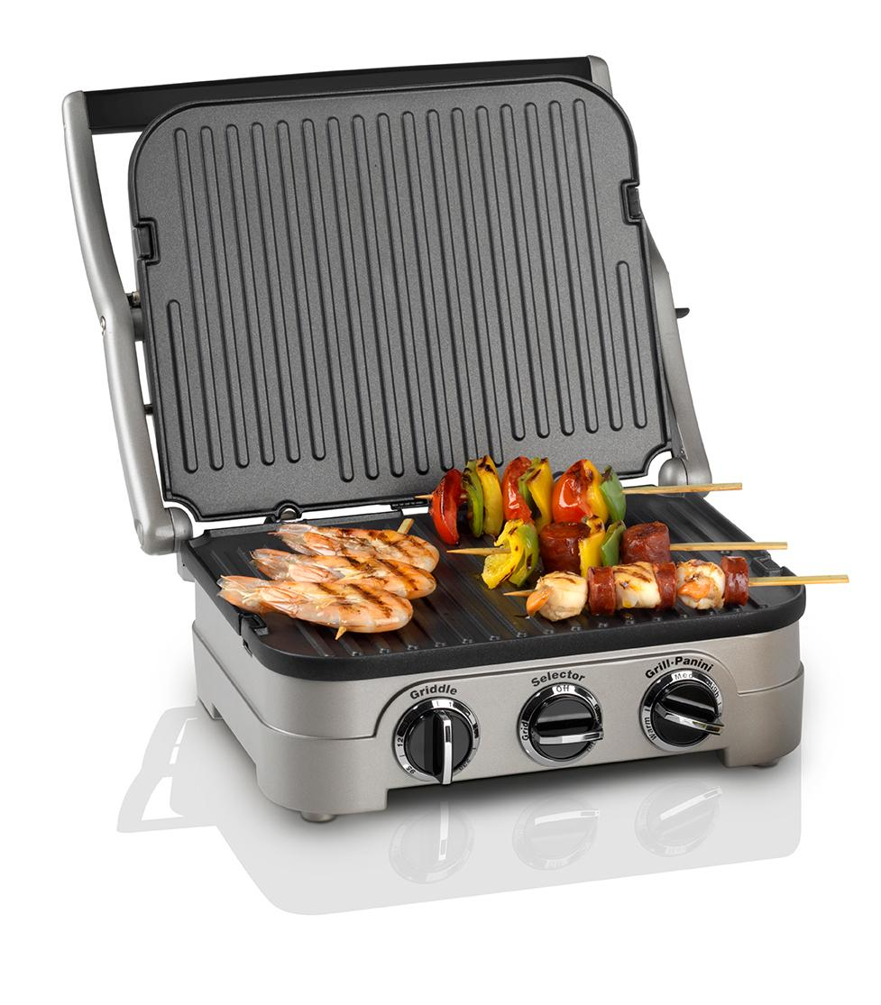 new cuisinart gr4cu griddle and reversible grill panini press 1600w ebay. Black Bedroom Furniture Sets. Home Design Ideas