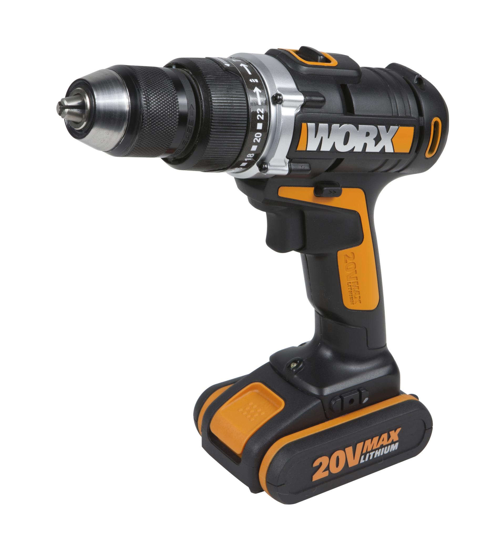 worx wx372 2 20v max cordless hammer drill with powershare. Black Bedroom Furniture Sets. Home Design Ideas