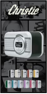 stereo, compact, kitchen, alarm clock, radio, DAB, FM, kitchen radio, rechargeable