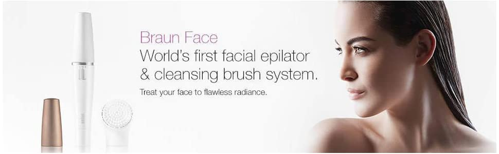 Braun Face 810 facial epilator and cleansing brush