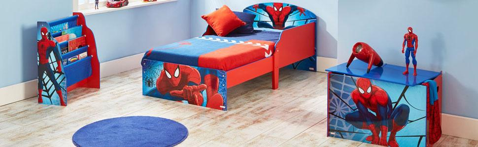 Marvel Spider-Man Kids Toddler Bed by HelloHome: Amazon.co ...