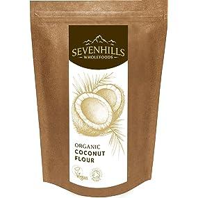 Sevenhills Wholefoods Organic Raw Coconut Flour, gluten free