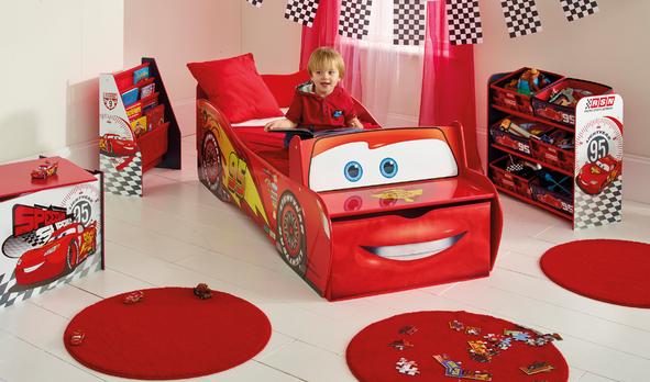 View larger - Disney Cars Lightning McQueen Kids Bedroom Book Shelf By HelloHome
