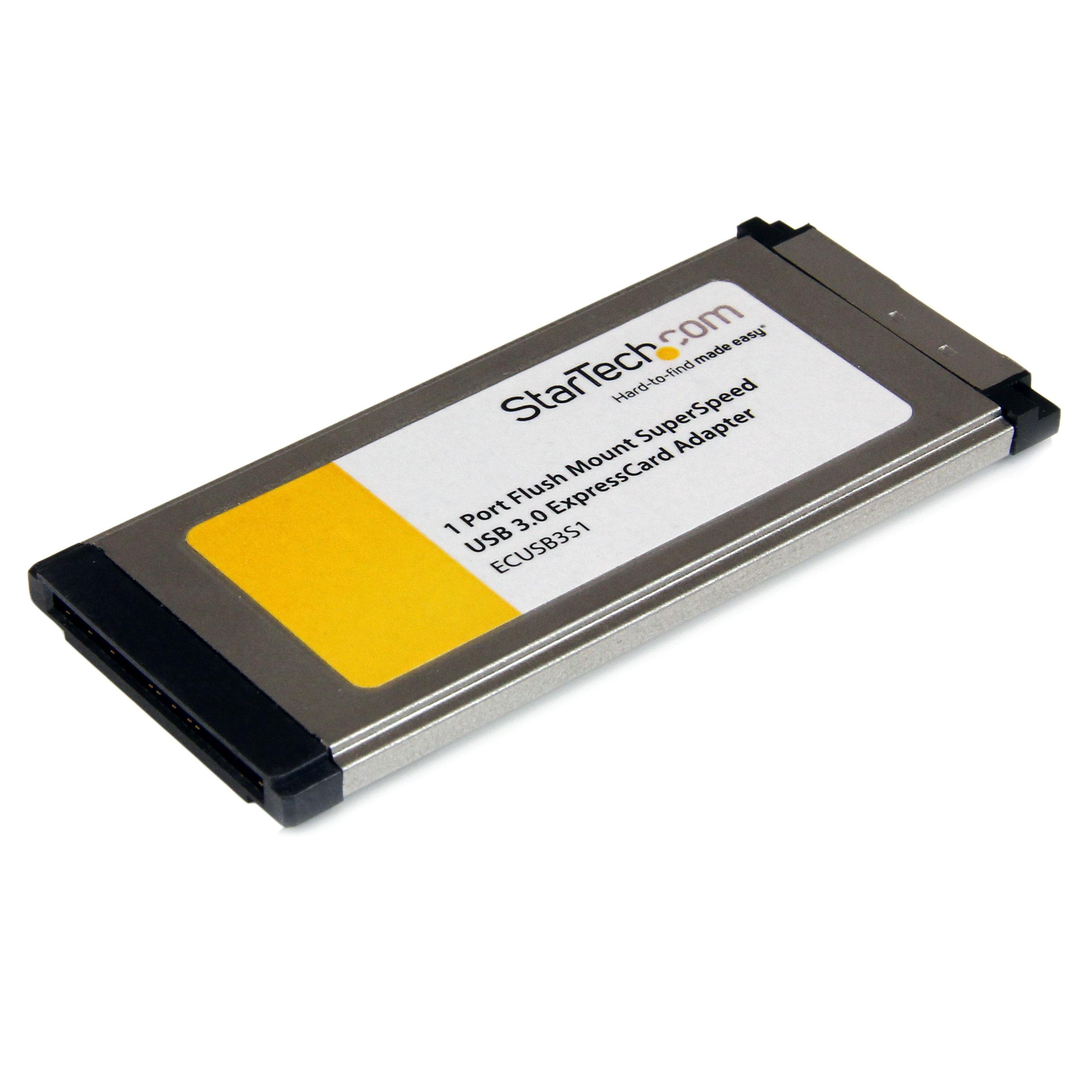 StarTech.com 1 Port Flush Mount ExpressCard SuperSpeed ...
