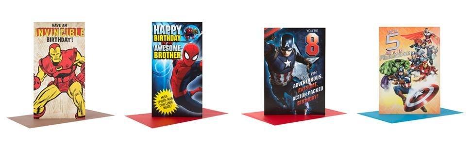 Hallmark Marvel Birthday Card Super Hero Medium Amazoncouk – Iron Man Birthday Card