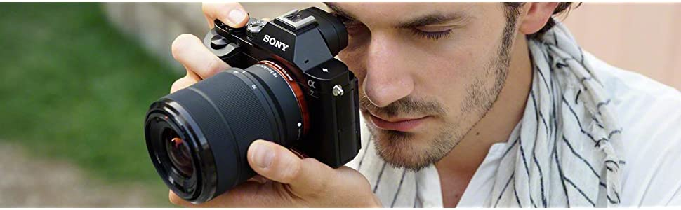 Sony, ICLE-7, full frame interchangeable lens camera, 24.3mp, 3 inch LCD, nfc, bionz x, a7