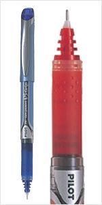 Liquid ink pen, rollerball, pen, Pilot V5, Pilot V7, Writing, comfort, rubber grip