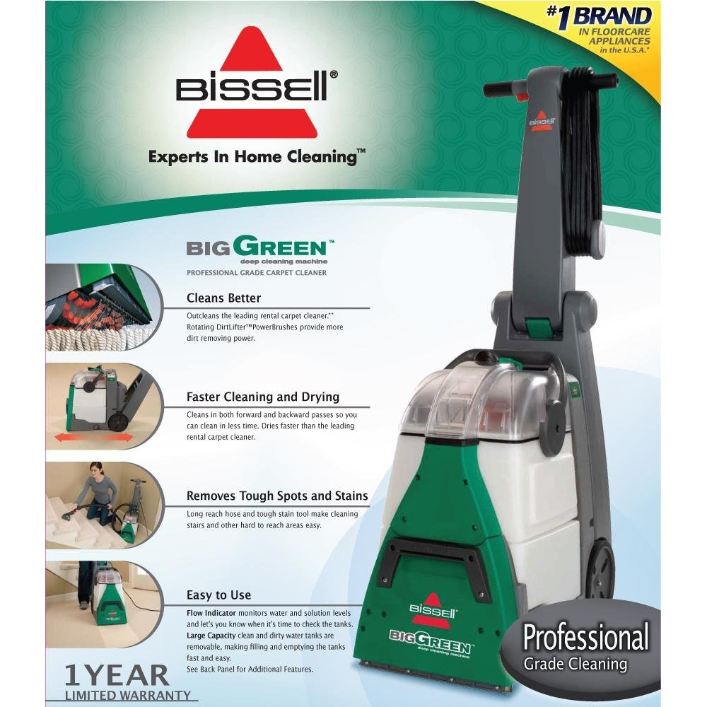 BISSELL 48F3E Big Green Deep Cleaning Machine 48F3E ...