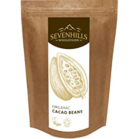 Sevenhills Wholefoods Organic Raw Cacao Beans, cocoa