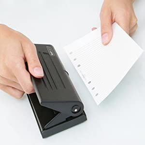 6-Hole Organiser, Diary Punch, Hole punch, Personal Punch, Organiser punch, filofax hole punch,