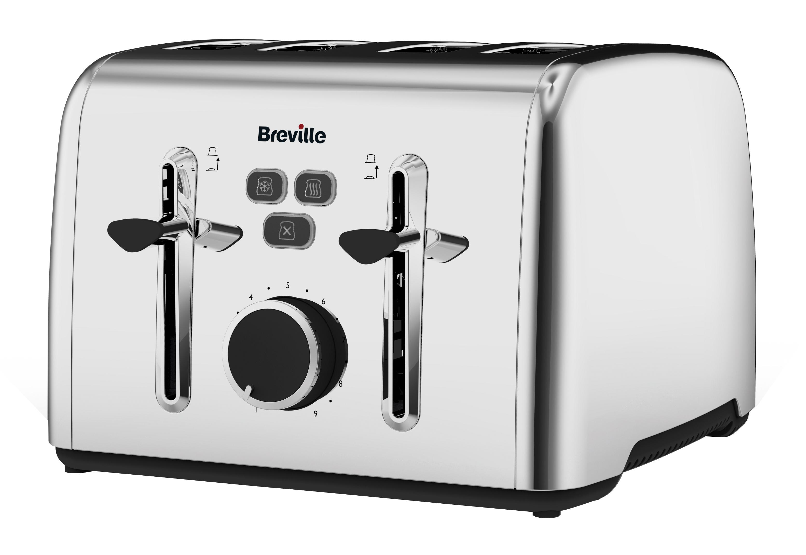 Breville Colour Notes 4 Slice Toaster Stainless Steel