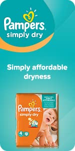 Pampers Simply Dry nappies