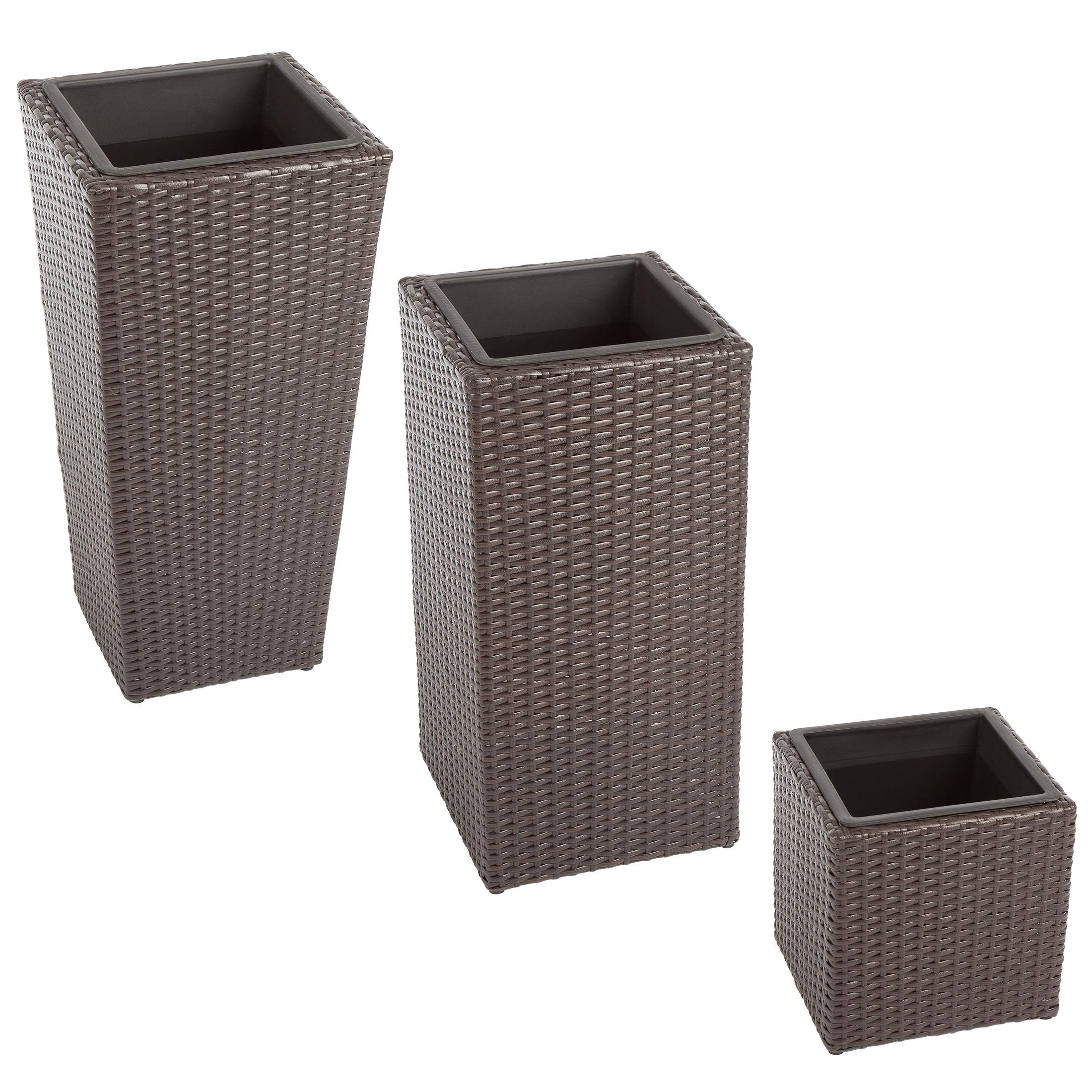 ultranatura palma series block design rattan planters. Black Bedroom Furniture Sets. Home Design Ideas