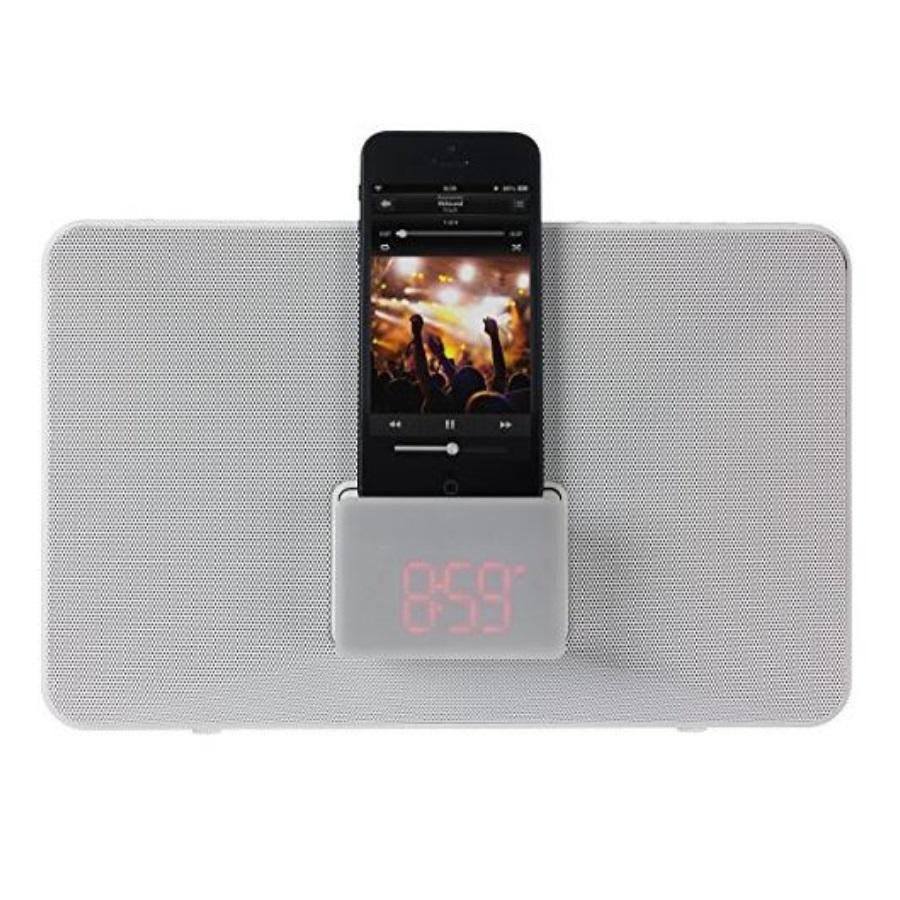 kitsound fresh alarm clock radio docking station with lightning connector for. Black Bedroom Furniture Sets. Home Design Ideas