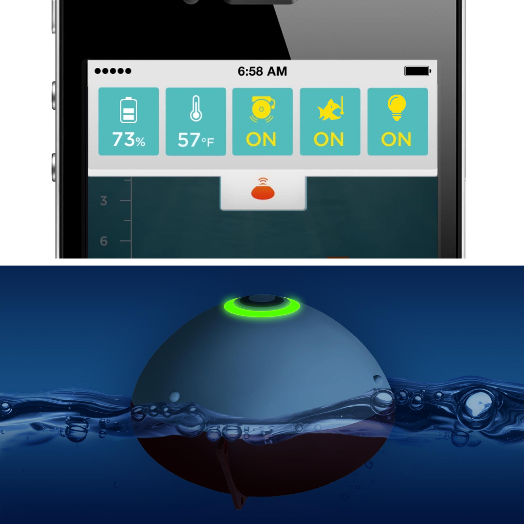 Ibobber castable bluetooth smart fish finder carp and for Ibobber fish finder
