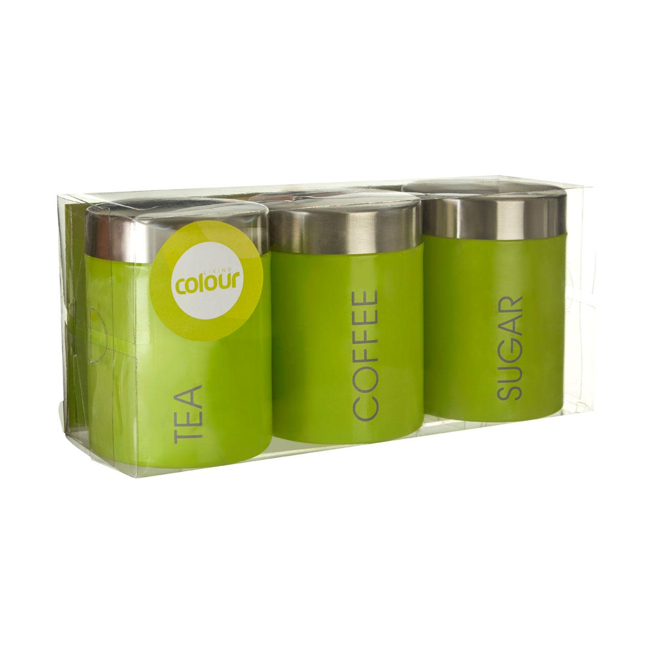 Stainless Steel Kitchen Canisters Premier Housewares Liberty Tea Coffee And Sugar Canisters