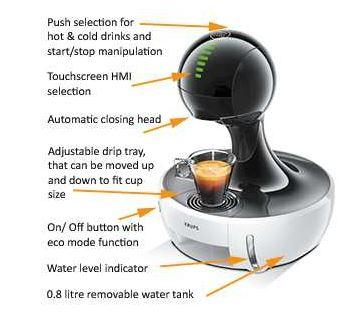 krups nescafe dolce gusto drop touch coffee machine. Black Bedroom Furniture Sets. Home Design Ideas