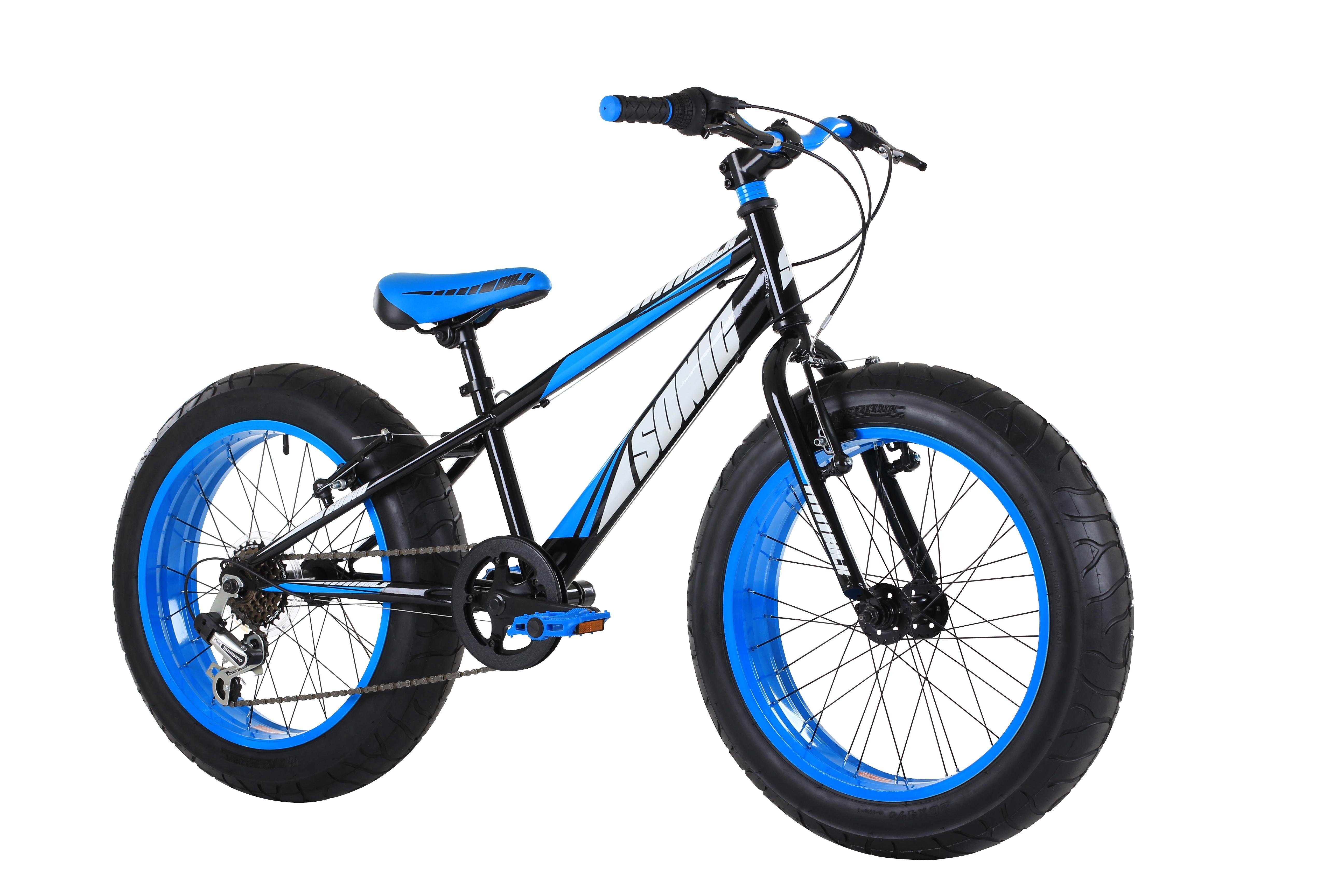 Sonic Bulk Kid S Fat Bike Vivid Blue Amazon Co Uk Sports Outdoors