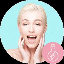 cleanser;moisturiser; cream;serum;polish;rich cream; soft;radiant;skincare products;