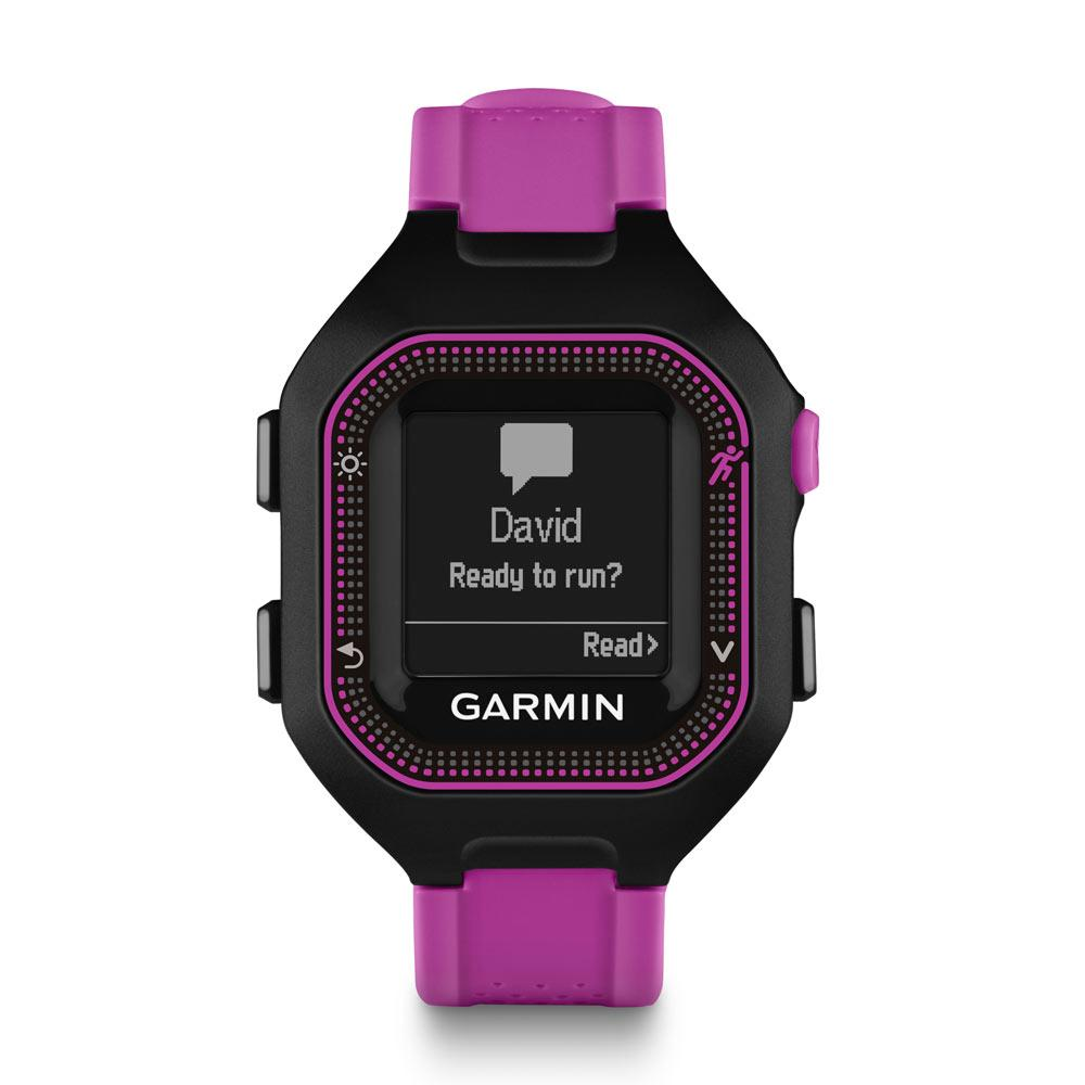 garmin forerunner 25 gps running watch large black red ebay. Black Bedroom Furniture Sets. Home Design Ideas