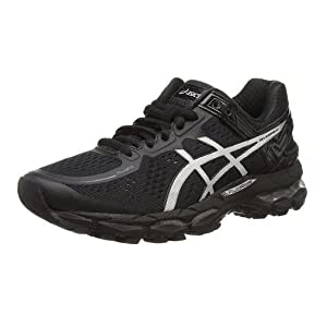 asics black leather shoes