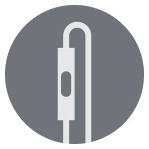 AKG Headphones Universal 1 button remote/mic
