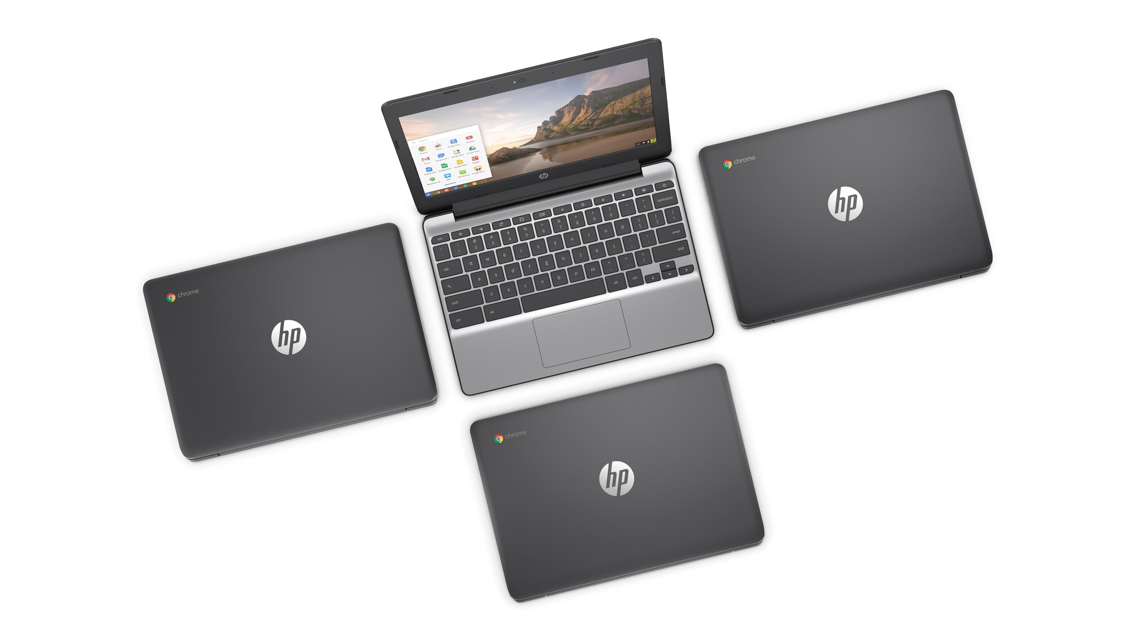 HP Chromebook 11-v000na 11 6-inch HD Laptop (Ash Grey) - (Intel Celeron  N3060, 2GB RAM, 16GB eMMC, Intel HD Graphics Card, Chrome OS)