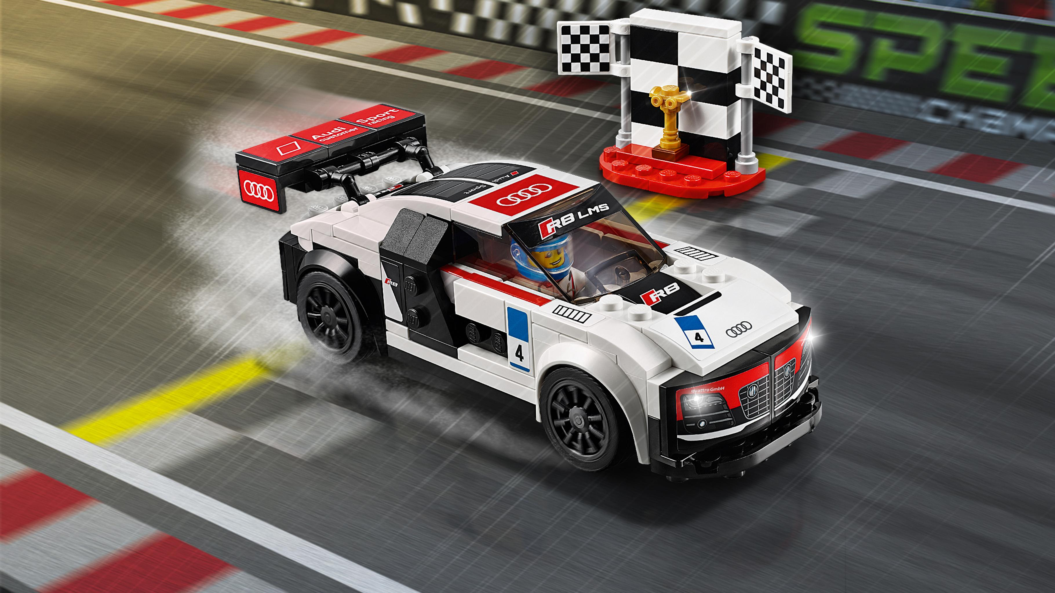 lego 75873 speed champions audi r8 lms ultra multi. Black Bedroom Furniture Sets. Home Design Ideas