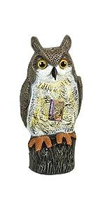 Defenders Wind Action Owl Lifelike Decoy Deterrent