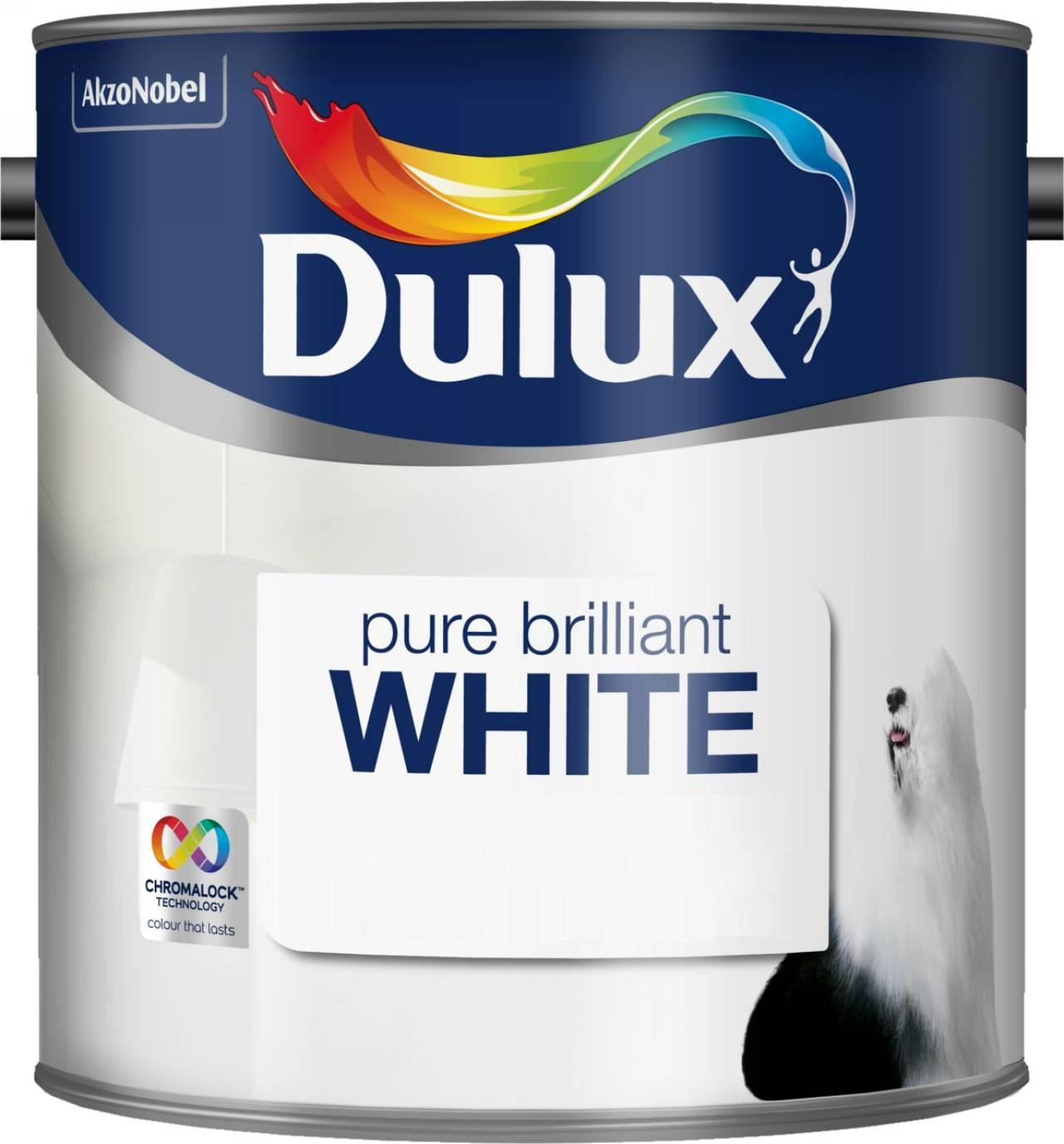 Dulux Matt Paint 2 5 L Pure Brilliant White Amazon Co