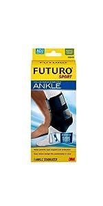 FUTURO Sport Deluxe Ankle Stabiliser Adjustable, ankle strain, strained ankle, ankle brace