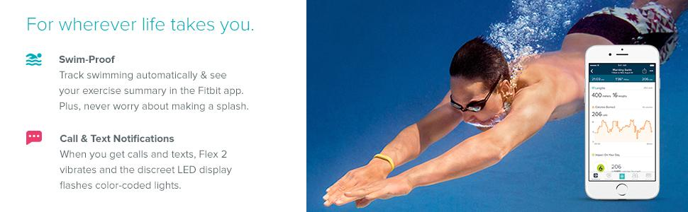 Fitbit Flex 2 Waterproof Activity Amp Fitness Tracker