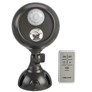 mr beams, spotlight with remote control, wireless led spotlight, remote controlled spotlight