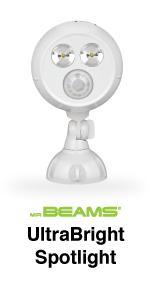 mr beams ultrabright spotlight, bright led spotlight, outdoor security light