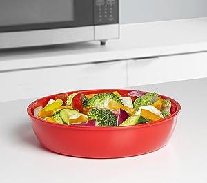 Microwave, cookware, steamer