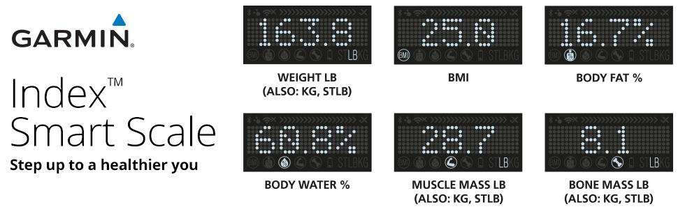 Index;smart;scale;weight;body;mass;fat;water;muscle;bone;measure