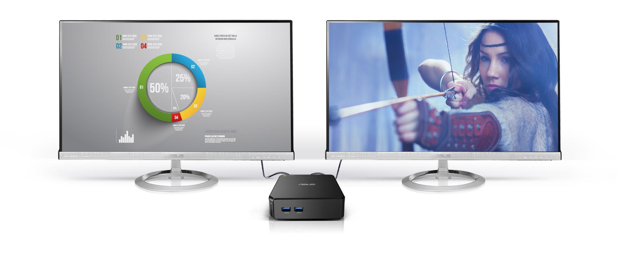 Asus Chromebox M099U USFF Monitor: Amazon.co.uk: Computers