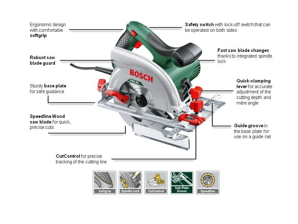 bosch circular saw pks 55 a saw blade parallel guide cardboard box w. Black Bedroom Furniture Sets. Home Design Ideas