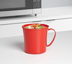 Sistema Microwave Soup Mug 656 Ml Red Clear Amazon Co